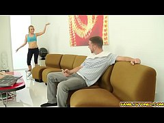 Bailey Brooke rides her step bros cock with stretch pussy
