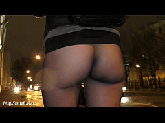 Pantyhose flashing at bar. Jeny Smith