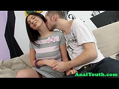 Glamcore teen asspounded from behind