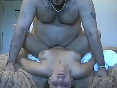 Amateur Fat Fuck Slams His Bitch