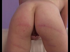 Girl gasps as she is caned