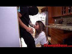 Cute tied up teen slut has rough sex with a masked burglar