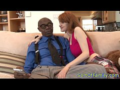 Mature plowed hard by her black stepdaddy