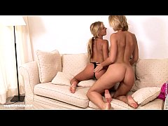 Sensual  lesbian sex by Rene and Paulina from Sapphic Erotica - Piggyback Lesbia