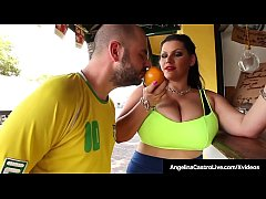 Big Butt Cuban Angelina Castro has a date with a BBW loving Dick who pounds her plump pussy with a feverish fucking & cums on her massive tits!