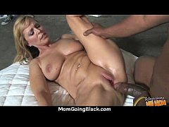 Sexy mom gets a creamy facial after getting pounded by a black dude 30