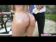 Oiled Wet Big Butt Girl Get Her Ass Fill Up video-16