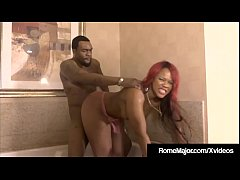 Black Knight Rome Major Pussy Plows Ebony Gemini Lovell!