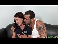 hot brunette teen Mia Valentine rammed hard