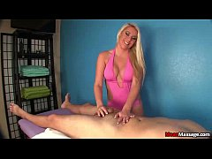 Blonde sexbomb cock treatment