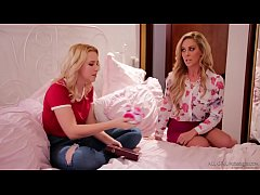 Busty mom and her newbie masseuse daughter - Cherie DeVille and Samantha Rone