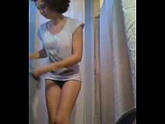 Ex flat-mate hidden cam shower part 1