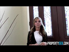 Property Sex - Sexy petite real estate agent tr...