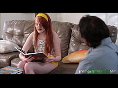 Red Head Teen With Braces Fucks Dad's Best Friend