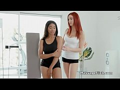 Post workout interracial lesbian 69 massage