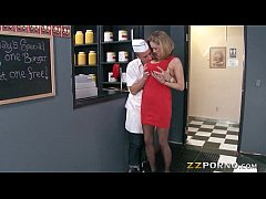 Huge tits MILF Katie Kox screwed up hard with a fat cock
