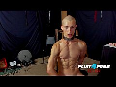 Flirt4Free Fetish Flogger Hoss Kado Clamps His Nipples and Sits on a Dildo
