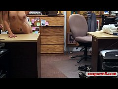 Latin bitch gets drilled by pawn keeper in his office