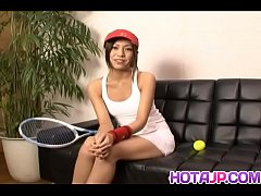 Japanese Kaoru Hayami looks smoking hot in her white tennis outfit - More at hotajp com