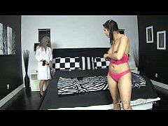 Milf Tests Vibrator on Young Brunette