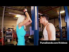 Hard Cock Mechanic Bangs & Slams Busty Blonde Puma Swede!