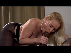 Blondie Kathia blow BIG, BLACK MONSTER COCK!!!