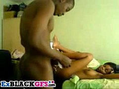 Cute black teen girlfriend gets nailed