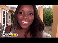 bangbros - candice nicole s sweet ebony ass stuffed with white cock