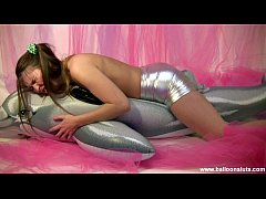 Megan dry humps dolphin to orgasm