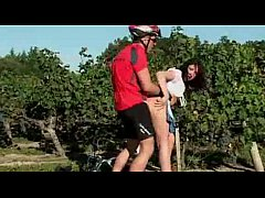 hot brunette fuck by cyclists