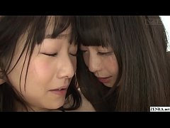 First time Japanese lesbian Ayane Suzukawa sensually fingered by Nozomi Hazuki in HD with English subtitles