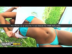 BANGBROS - Ebony Pornstar Asa of Spades Interracial Fuck Session On Brown Bunnies
