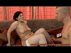 Amateur old granmother giving head
