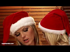 Karie and Salma anal lesbian action in Christmas Fantasy
