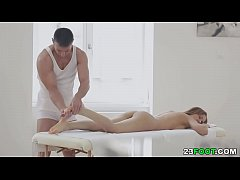 Sensual massage turns into deep pussy fucking # Sabrina Moore