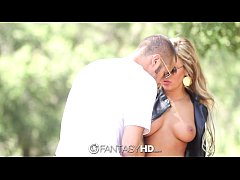 HD FantasyHD - Sexy blonde Cameron Dee is fucked on car hood