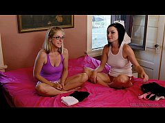 Veruca James and Penny Pax licking each other