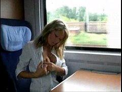 ultimate milf on a train - huge tits and perfect ass hole