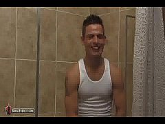 Brent Everett masturbating in the shower