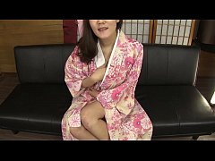 Subtitled amateur Japanese lady in kimono masturbation talk