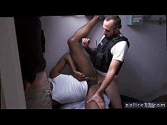 Police men hairy body gay xxx Purse thief becomes rump meat