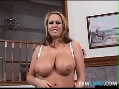 Busty MILF Sucks Off Guy While He Films