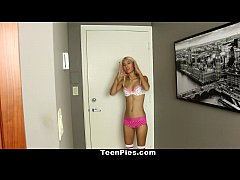 TeenPies - Skinny Blonde Gets Cream Filled