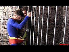 Superman Submits 2 CBT HANDJOB LYCRA SPANDEX