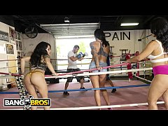 BANGBROS - Rose Monroe, Holly Hendrix and Mia Martinez On The Fuck Team Five