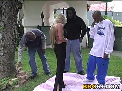 Interracial Gangbang and DP with Judy Star