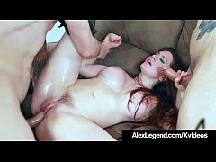 HD Alex Legend & Veronica Vain The Wall Street Intern First DP!