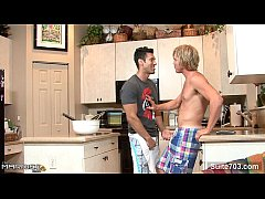 Brunette married guy take a gay's cock