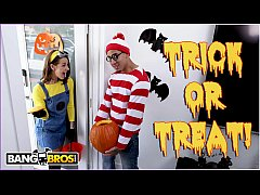 HD BANGBROS - Trick Or Treat, Smell Evelin Stone's Feet. Bruno Gives Her Something Good To Eat.