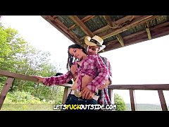 Lets Fuck Outside - Cowgirl fucked Hard on the Farm
